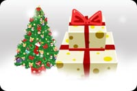 Christmas Tree And Prese Stationery, Backgrounds