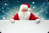 Christmas email stationery. Hello Santa