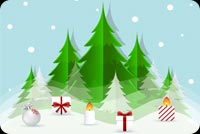 Christmas email stationery. Nice Christmas Trees
