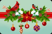 Send Christmas Wishes... Stationery, Backgrounds
