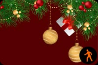 Animated Lovely Christmas Ornaments Stationery, Backgrounds