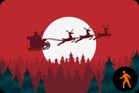 Animated Sleigh Through The Night Sky Stationery, Backgrounds
