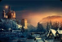 Christmas Winter Season Stationery, Backgrounds