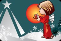 An Angel Lighting A Candle Stationery, Backgrounds