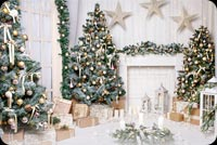 White Christmas Decor Stationery, Backgrounds