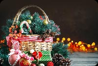 Christmas Basket Stationery, Backgrounds