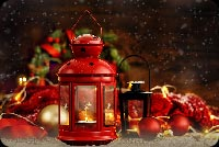 Xmas Lantern Stationery, Backgrounds