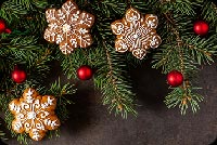 Christmas Branches Decoration Stationery, Backgrounds