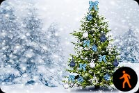 Animated Christmas Tree Snow Effect Stationery, Backgrounds