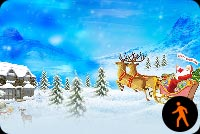 Animated Merry Christmas Santa With Snow Effect Stationery, Backgrounds