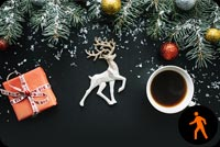 Animated Christmas Hot Coffee Stationery, Backgrounds