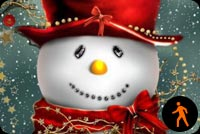 Animated Cute Christmas Snowman - Snowing Effect Stationery, Backgrounds
