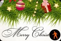 Animated Christmas Ornaments Swinging Stationery, Backgrounds