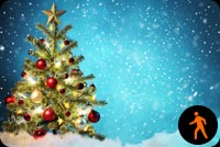 Animated Christmas Tree - Snowing Effect Stationery, Backgrounds