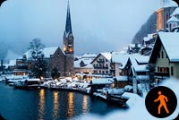 Lake Hallstatt Winter Time Stationery, Backgrounds