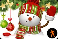 Animated Snowman Waving Stationery, Backgrounds