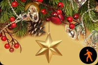 Animated Christmas Gold Star Stationery, Backgrounds