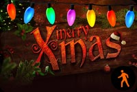 Animated Merry Xmas Lights Stationery, Backgrounds