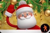Animated Santa Waving Stationery, Backgrounds