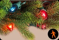 Animated Christmas Lights Stationery, Backgrounds