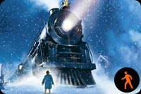 Animated The Polar Express Train Stationery, Backgrounds