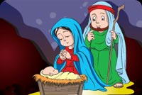 Mary, Joseph And Jesus Stationery, Backgrounds