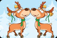 2 Reindeers During Winter Stationery, Backgrounds