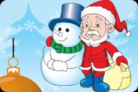 Santa And Frosty Together Stationery, Backgrounds