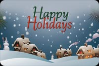 Fireplace Lit Homes On Christmas Stationery, Backgrounds