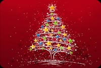 Lovely Christmas Tree With Star Stationery, Backgrounds