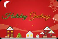 Holiday Greetings Over Homes Stationery, Backgrounds