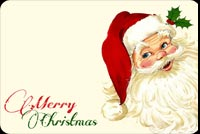 Santa Says Merry Christmas Stationery, Backgrounds