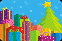 Huge Presents With A Tree And Star Stationery, Backgrounds