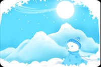 Frosty Buried In The Snow Stationery, Backgrounds