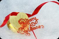 Merry Christmas With Gold Heart Stationery, Backgrounds