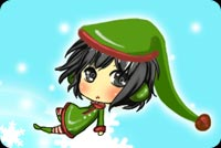 Little Girl In Elf Costume Stationery, Backgrounds