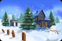 A Mansion At Christmas Stationery, Backgrounds