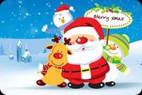 Santa, Reindeer And Frosty Stationery, Backgrounds