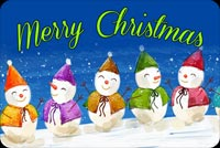 5 Snowmen For Christmas Stationery, Backgrounds