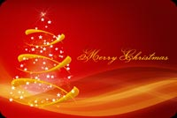 Red Yellow And Gold Christmas Stationery, Backgrounds