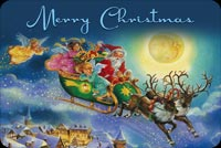 Merry Christmas From Santa Stationery, Backgrounds