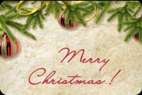 Merry Christmas Gold And Red Decors Stationery, Backgrounds