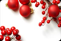 Lovely Red Christmas Decorations Stationery, Backgrounds