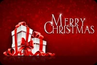 Merry Christmas Presents Stack Stationery, Backgrounds