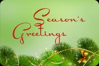 Season's Greetings Of Green And Gold Stationery, Backgrounds
