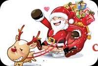 Santa Claus Let's Ride Stationery, Backgrounds