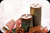 Christmas email stationery. Warm Wishes Christmas Candles