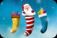 Santa Christmas Wishes Stationery, Backgrounds