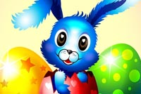 Cute Blue Bunny Greetings Stationery, Backgrounds