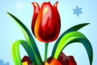Tulip Flower Happy Easter Stationery, Backgrounds